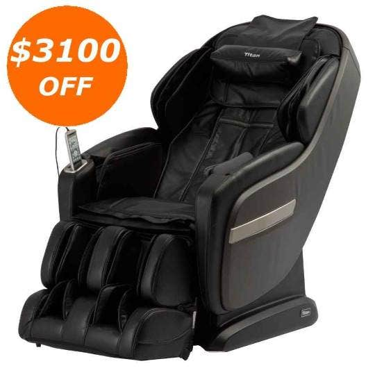 Titan TP-Pro Summit L-Track Massage Chair with Foot Roller, Space Saving, Heating Body Scan