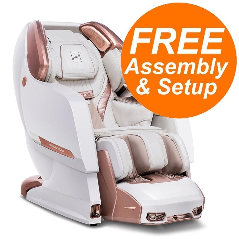 Bodyfriend Phantom II S-L Track 4D Massage Chair with Zero Gravity, Heating, Auto Body Scanning