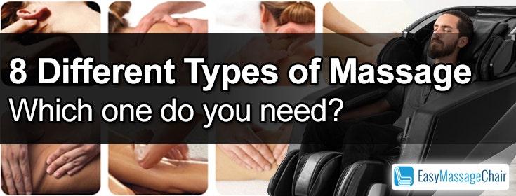 8 Different Types of Massage