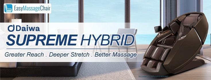 Daiwa Supreme Hybrid Massage Chair: Progeny of Massage Chair Designs