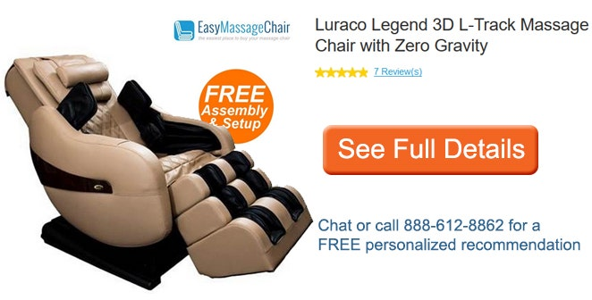 See full details of Luraco Legend Plus 3D L-Track Massage Chair