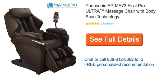 See full details of Panasonic EP-MA73 Real Pro ULTRA™ Massage Chair