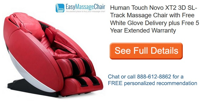 Se full details of Human Touch Novo XT2 3D SL-Track Massage Chair