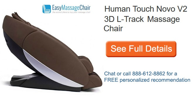 See full details of Human Touch Novo V2 3D L-Track Massage Chair with Free White Glove Delivery plus Free 5 Year Extended Warranty