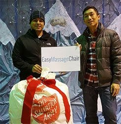 Easy Massage Chair Helping the Homeless