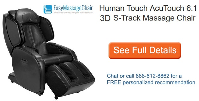 See full details of Human Touch AcuTouch 6.1 3D S-Track Massage Chair