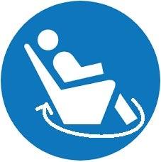 Swivel massage chair