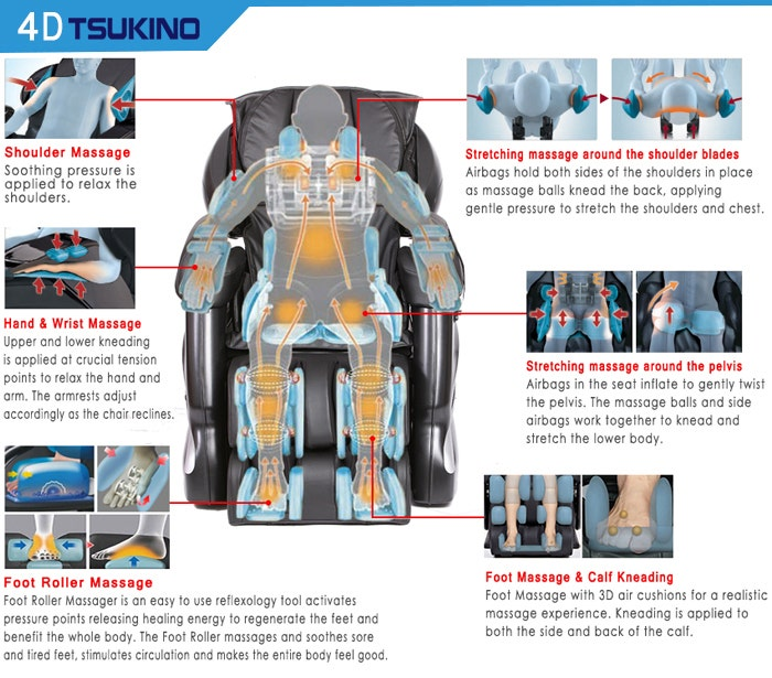 Tsukino 4D Body Massage Chair