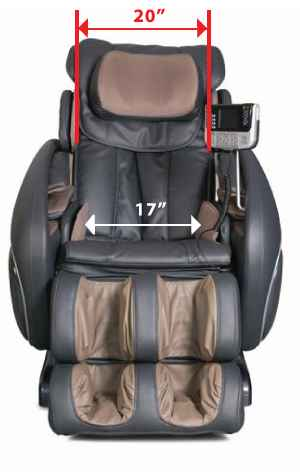 Osaki OS 4000 Massage Chair Size
