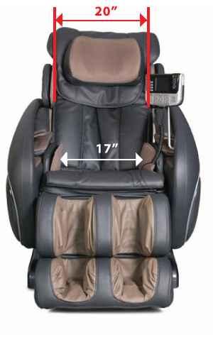 Osaki OS 4000 Massage Chair Size