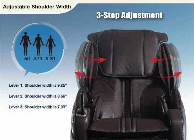 Osaki Massage Chair Adjustable Shoulder Width