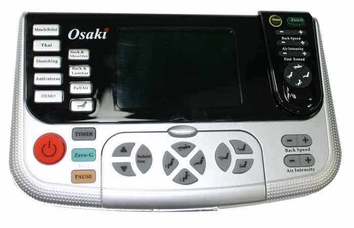 Osaki 4000T Massage Chair Remote