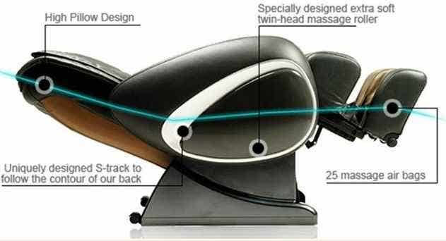 Osaki 4000T Massage Chair Auto Recline