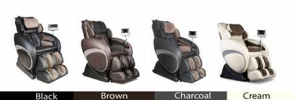 Osaki 4000T Massage Chair Color Chart