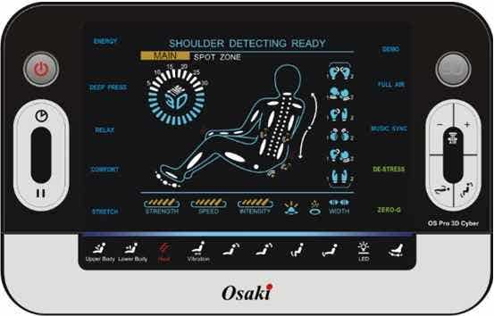 Osaki OS-3D Pro Cyber Massage Chair Full-size Remote
