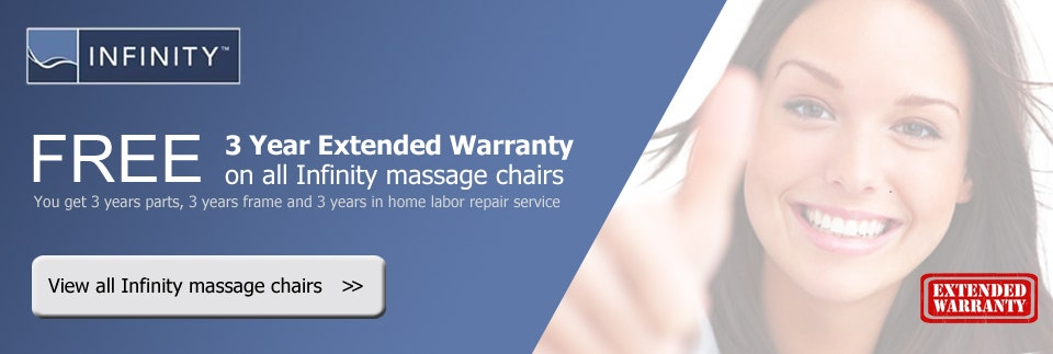 Easy Massage Chair Free 3 Year Extended Warranty on All Infinity Massage Chairs