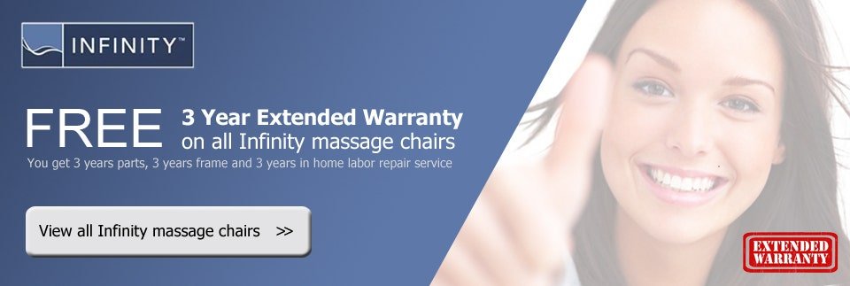 Infinity massage chairs free extended warranty