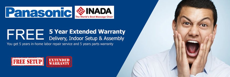 Panasonic Inada Free 5 year warranty & white glove promo