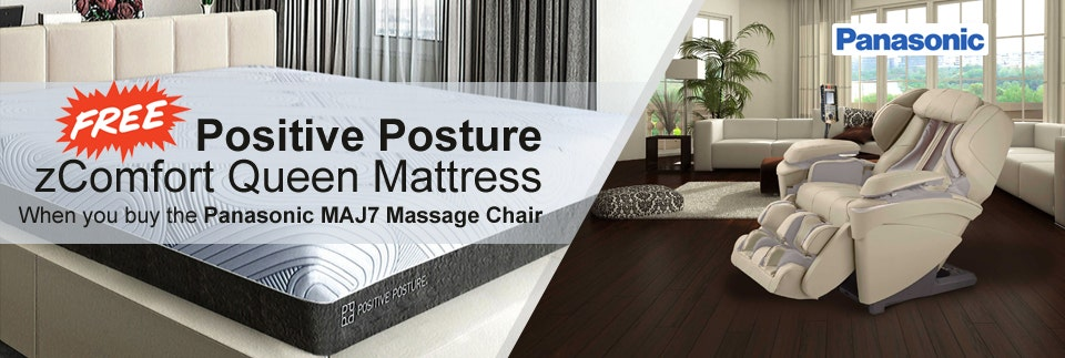 Buy Panasonic MAJ7, Get FREE Positive Posture zComfort Queen Mattress
